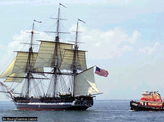 Look at that behemoth of a ship compared to the Jefferson gunboat!